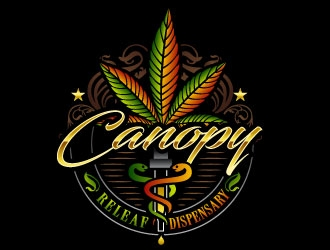 Canopy ReLeaf Dispensary logo design