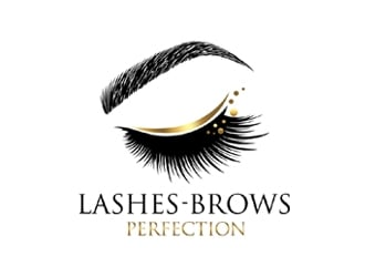 Lashes Brows Perfection logo design