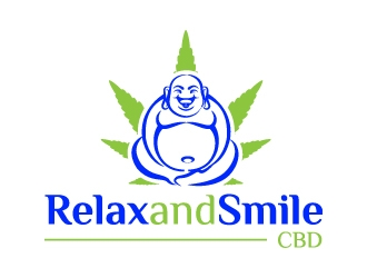 Relax And Smile CBD logo design