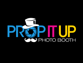 Prop It Up Photo Booth logo design