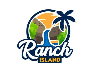 Ranch Island logo design