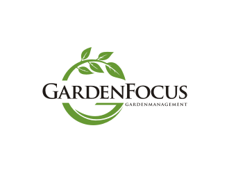 GardenFocus GardenManagement  logo design