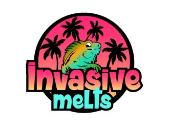 Invasive melts logo design