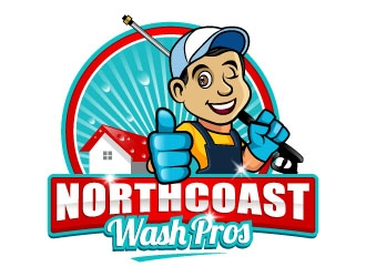 Northcoast Wash Pros logo design