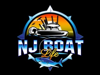 NJ Boat Life  logo design