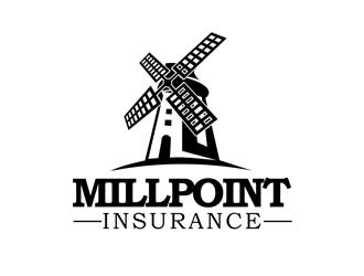 Millpoint Insurance logo design