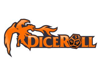 DiceRoll logo design