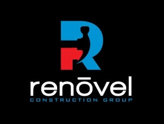 Renovel Construction Group logo design
