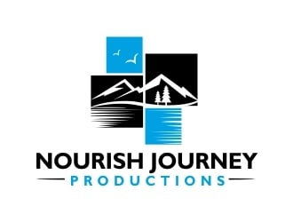 Nourish Journey Productions logo design