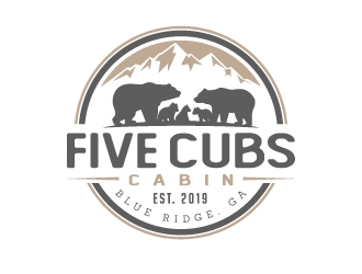 Five Cubs Cabin logo design