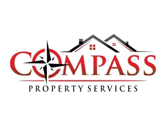 Compass Property Services logo design