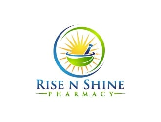 Rise N Shine Pharmacy logo design