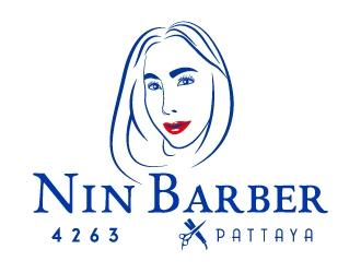 NIN BARBER  - PATTAYA logo design