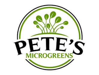 Petes Microgreens logo design
