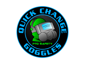 (COMPANY NAME IS PTQ SAFETY )   QUICK CHANGE GOGGLES logo design