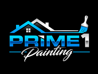 Prime 1 Painting  logo design