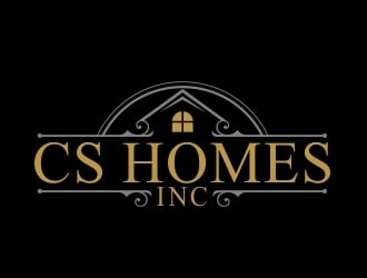 CS HOMES inc logo design