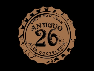 Antiguo 26 logo design