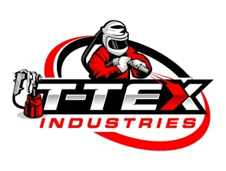 T-TEX INDUSTRIES logo design