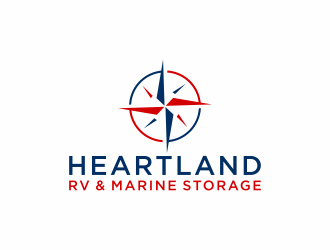 Heartland RV and Marine Storage logo design