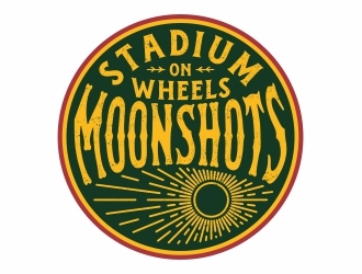 Moonshots Stadium On Wheels logo design