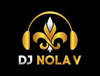 DJ NOLA V logo design