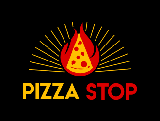 Pizza Stop logo design