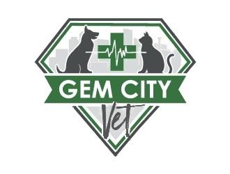 Gem City Vet logo design