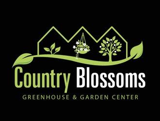 Country Blossoms logo design
