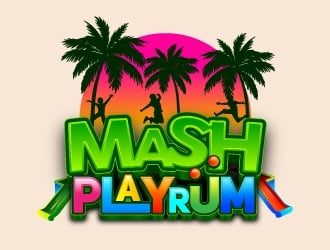 MASH Playrüm  logo design