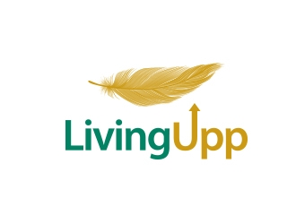 Living Upp logo design
