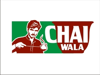 ARHAD KHAN CHAI WALA logo design by GURUARTS