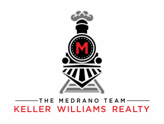 Train/ The Medrano Team at Keller Williams Realty logo design