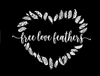 Free Love Feathers logo design