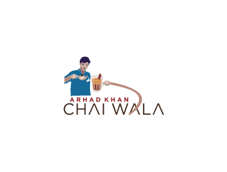 ARHAD KHAN CHAI WALA logo design by bricton