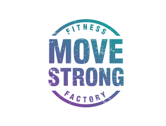 Move Strong Fitness Factory logo design