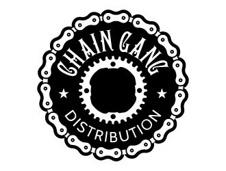 chain gang distribution logo design