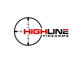 HighLine Firearms logo design