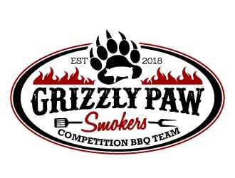 Grizzly Paw Smokers logo design