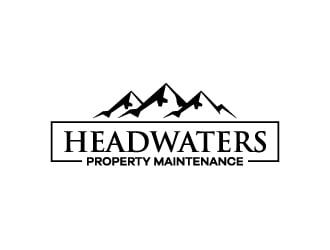 Headwaters Property Maintenance logo design