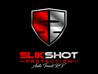 SLIK SHOT PROTECTION  AUTO TRUCK RV  logo design