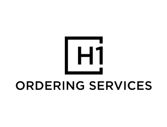 H1 Hospitality One Ordering Services logo design