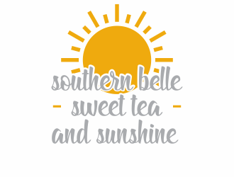 Southern Belle Sweet Tea and Sunshine logo design by hopee