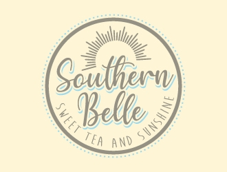 Southern Belle Sweet Tea and Sunshine logo design by jaize