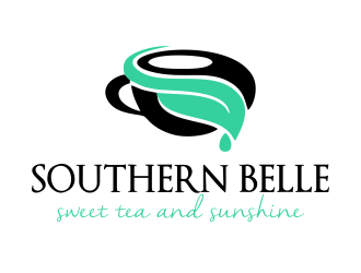 Southern Belle Sweet Tea and Sunshine logo design by JessicaLopes