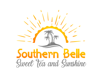 Southern Belle Sweet Tea and Sunshine logo design by Gwerth