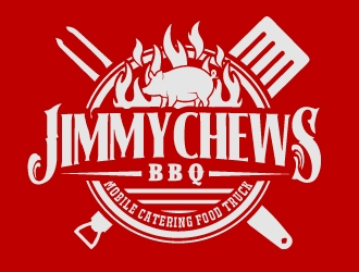 Jimmy Chews BBQ logo design