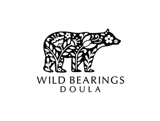 Wild Bearings Doula  logo design