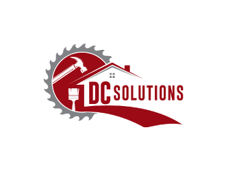 DC SOLUTIONS  logo design