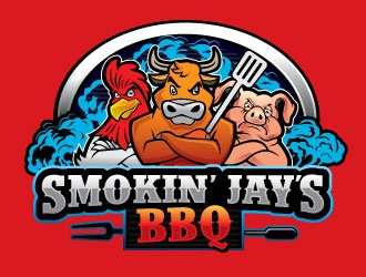 Smokin Jays BBQ logo design